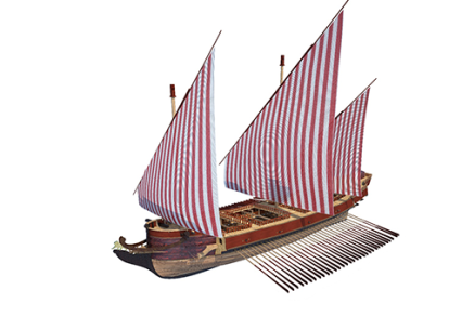 Figure 1. CompleteCAD model of the Galeazza